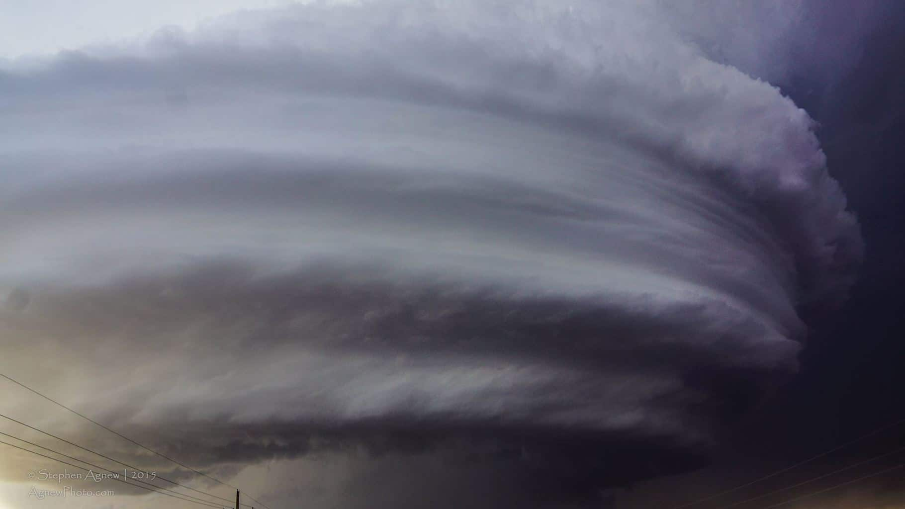 A large mesocyclone near Roswell, New Mexico in June 2014. — in Roswell, New Mexico.