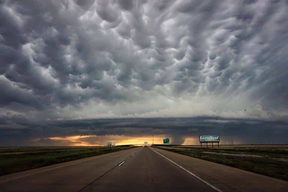 This was one if the most amazing storms fronts I have I've ever seen...  7-12-15 Santa Rosa, NM — with Aviwxchasers.