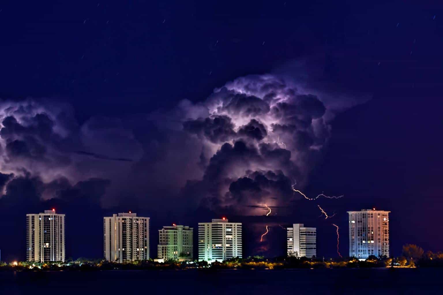 Halloween Lightning Singer Island Fl.