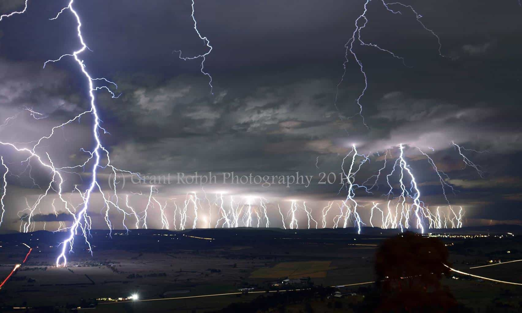 Super stack! South East Queensland Australia 26/10/15. This is a composite of 45x30sec images (its tough not moving or bumping the camera for so long) The closest strike that lit the valley was just over 2000m away. Taken from Panoramic Drive, South Toowoomba. Enjoy!
