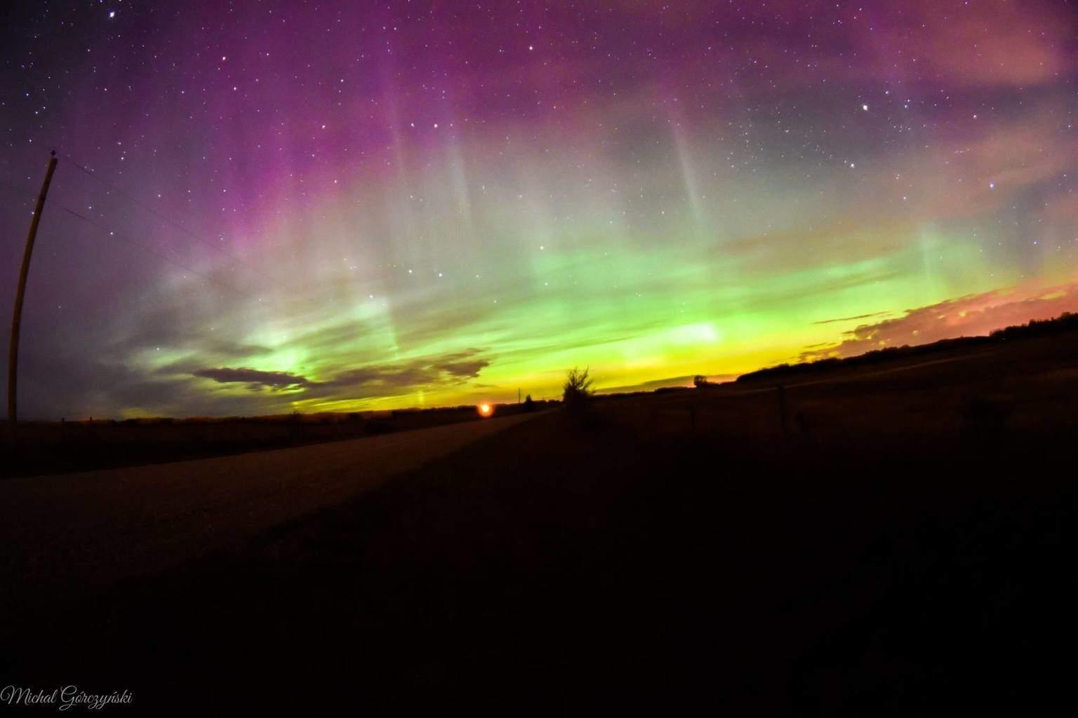 Aurora Borealis from last night. Cochrane AB Canada.