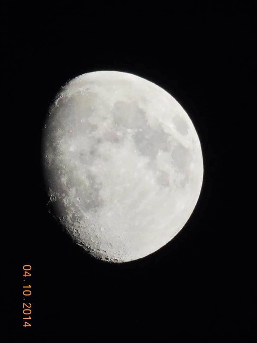 My clearest moon shot ever. Have never been able to get it like this one again. I am NO pro, and neither is my camera...so I am particularly proud of this one.