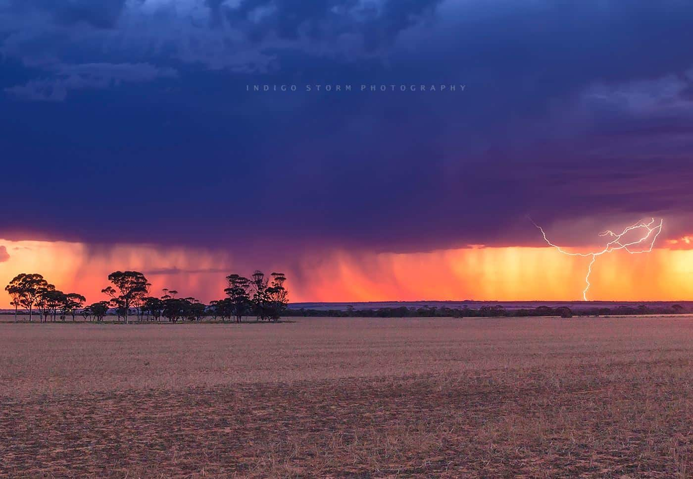 First storm for the season in the Central Wheatbelt of Western Australia. Captured just after sunset tonight 09/10/15.