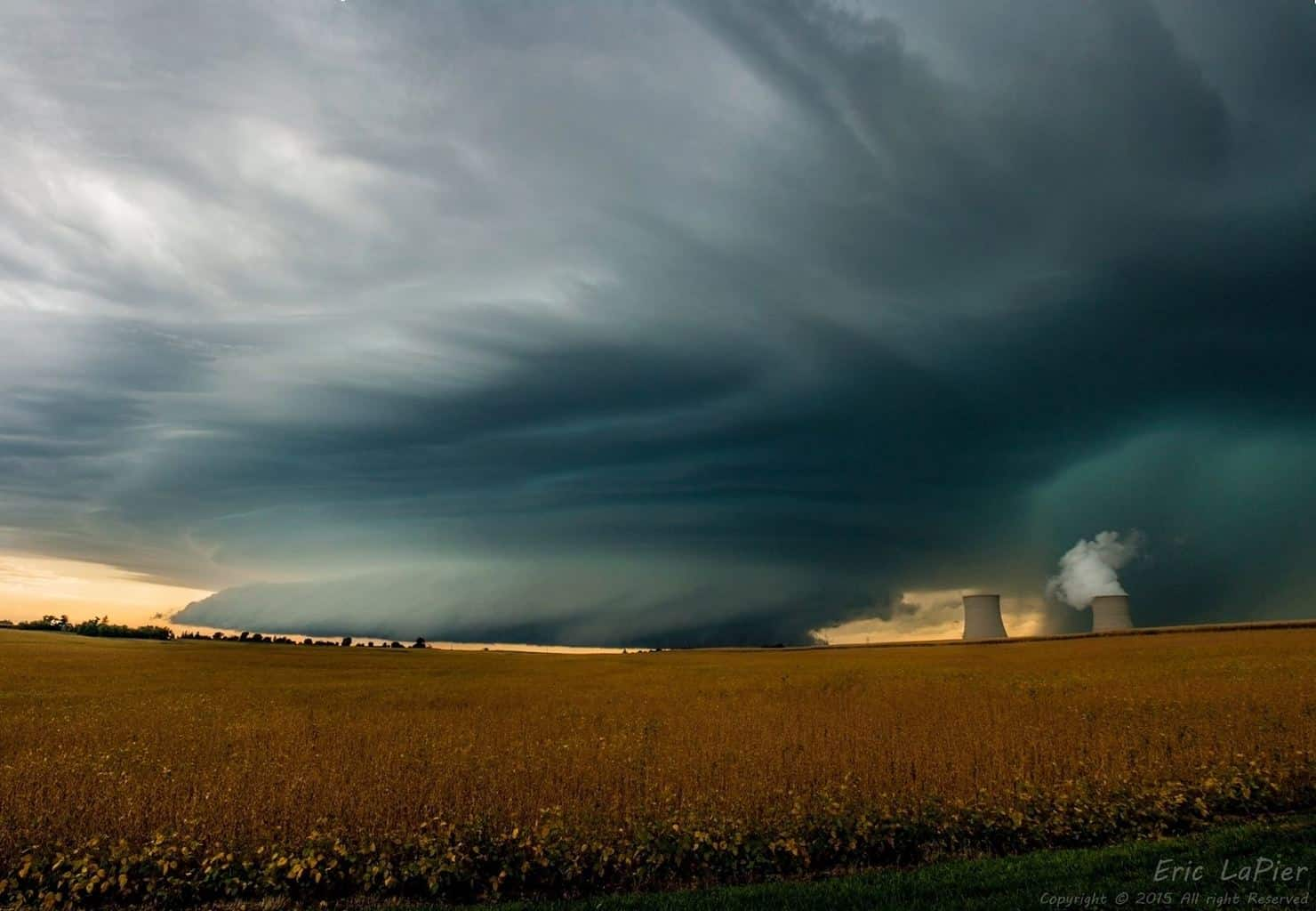 Captured this Supercell in Byron, IL on 9/17/15