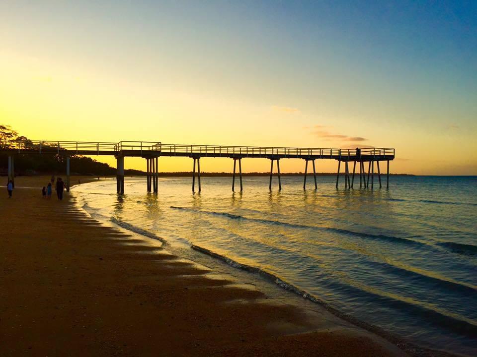 Hervey Bay, Queensland, Australia. Spectacular spring weather.