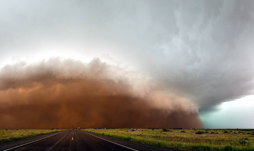 Would you like some red dust with that? Ironically, this powerful dusty storm hit the town of Brownfield, Texas on June 13th 2015. It also produced large hail, large dust-filled gustnadoes and a possible tornado. WithMarko Korošec.