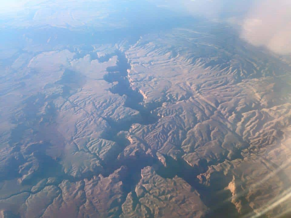 The Grand Canyon from 39,000 ft. Taken Dec 2014.