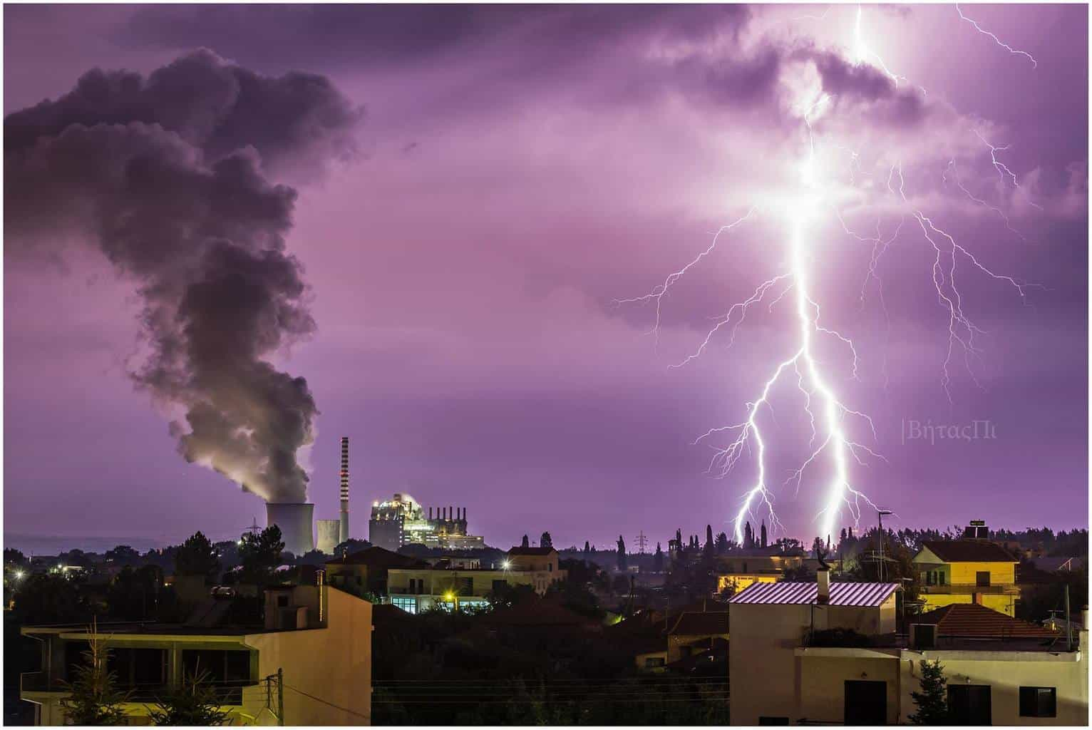 This is one of my best lightning captures, some days before. Hope you lie it Place: Megalopolis, Greece
