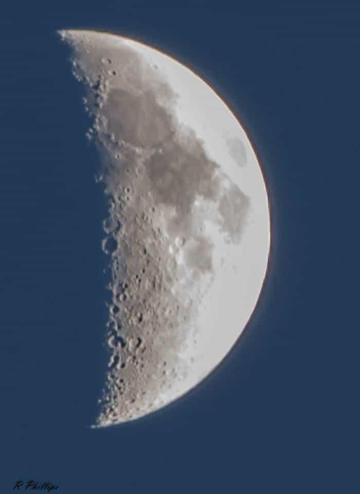 Moon tonight over San Antonio.