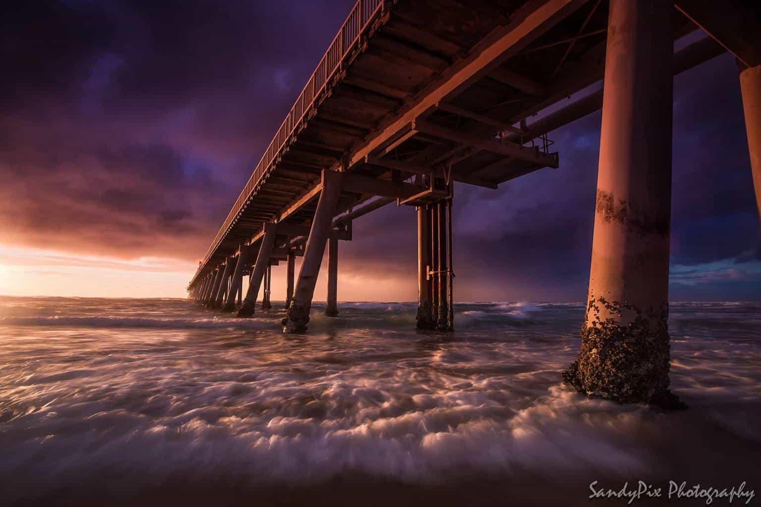 A nice stormy sunrise on the Gold Coast.