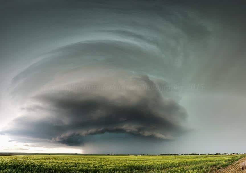 Supercell spinning near Lamar, Colorado - May 24th 2015. With Marko Korošec and Gauvin Daniel.