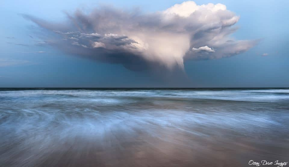 Storm cloud off the east coast of Australia this week ..