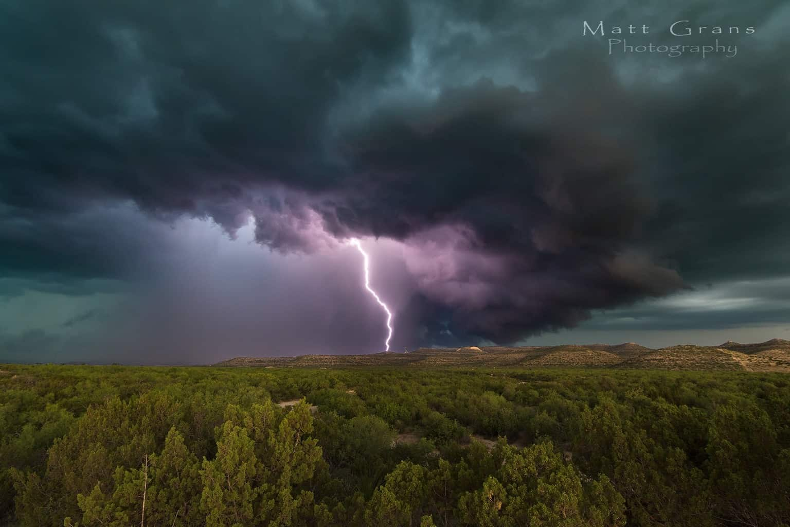 This was a handheld shot. No lightning trigger or long exposure tricks to get the bolt that I was able to catch. Pretty lucky shot. — at Sheffield Freaking Texas.