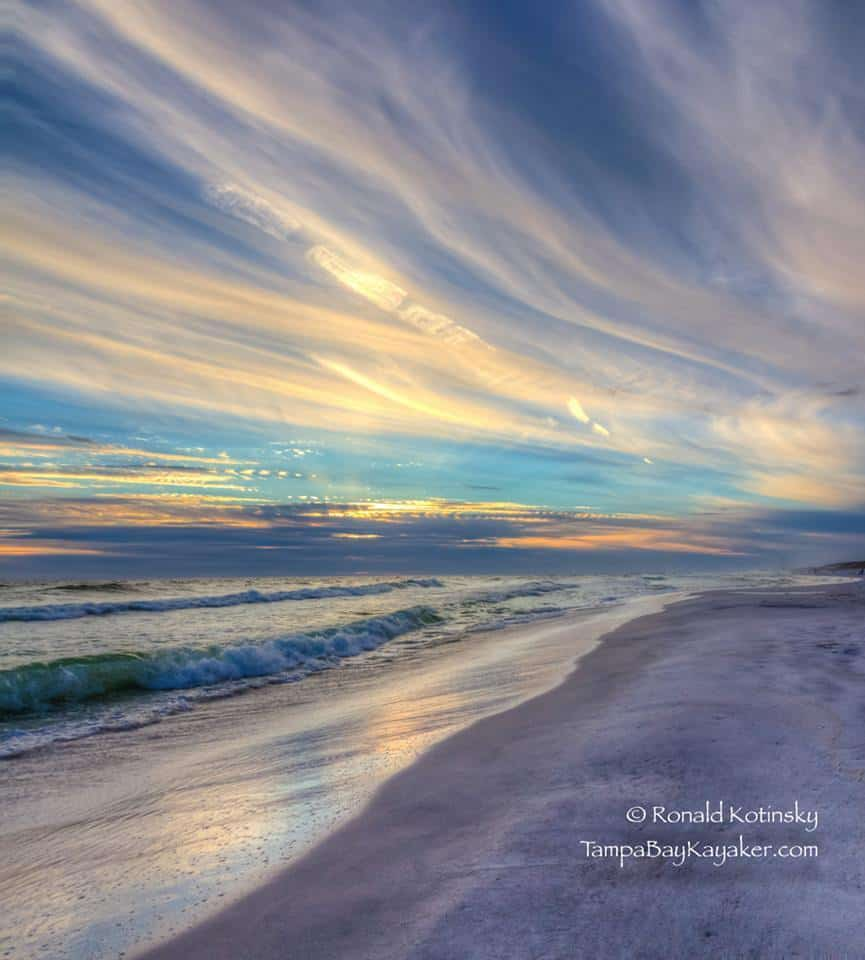 Ocean's Blue Swirl Sunset Delight - Seaside, Florida - 10-24-2015 — in Seaside, Florida.