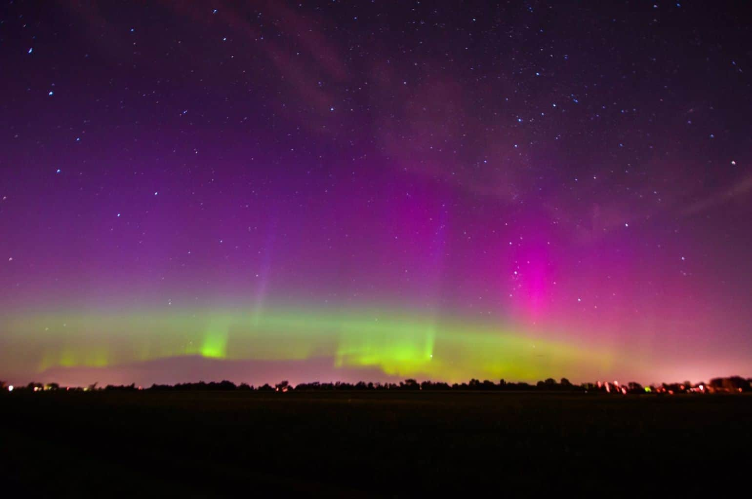 Superb Auroras over north-eastern Quebec in Canada. It was actually casting shadows on the ground..