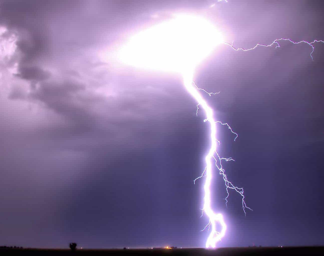 A fairly close CG strike from August 25 of this year. Shot 7 miles East of Tahoka Texas on Highway 380.