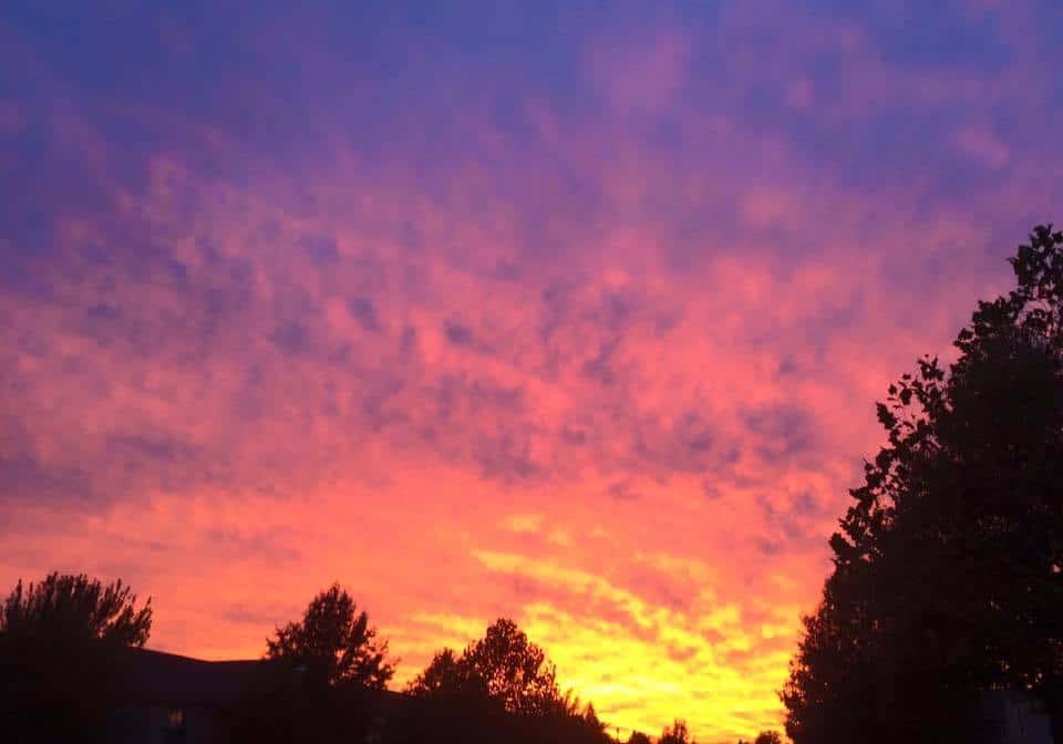 Fire in the sky over Broken Arrow, Ok October 24th, 2015