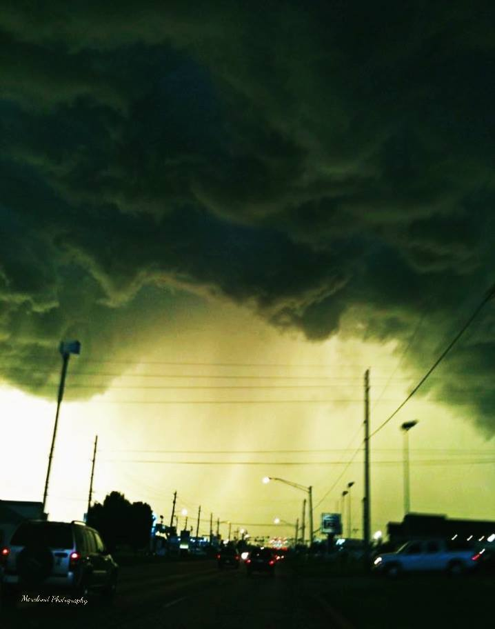Was going through some old photos and thought I would reshare this one. This was a few years back in Broken Arrow, Oklahoma. Nothing severe but it sure looked wicked. Taken with an old iPhone 3.