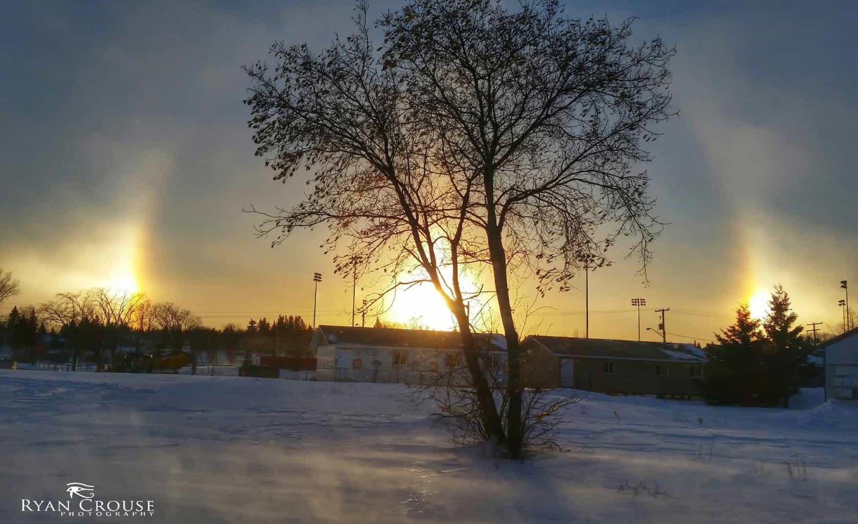 Crazy Sundog over Yorkton Sk. Canada on Jan 8, 2015