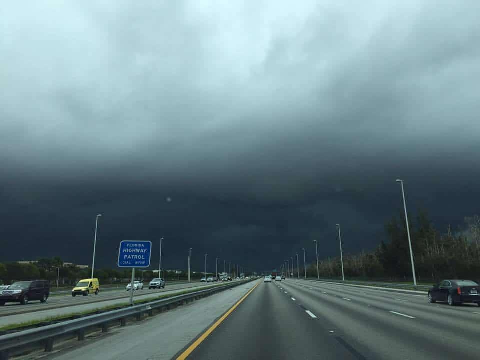 headed home south on Fla Turnpike it poured