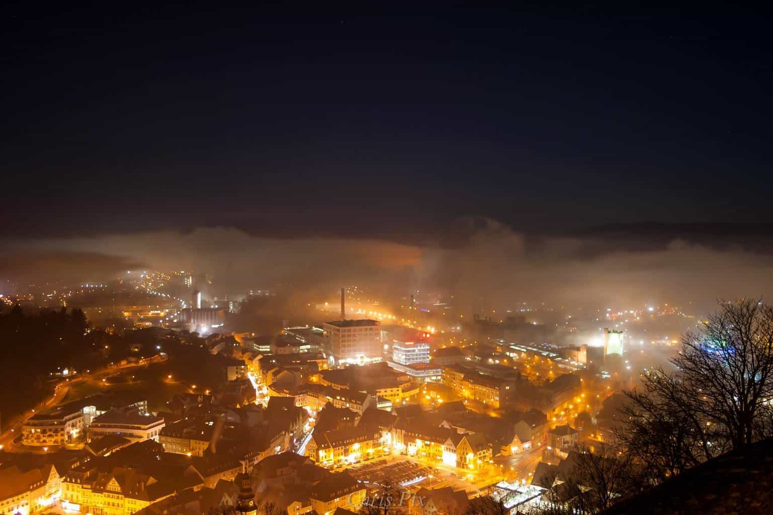 Fog is covering the city - Kulmbach/Germany
