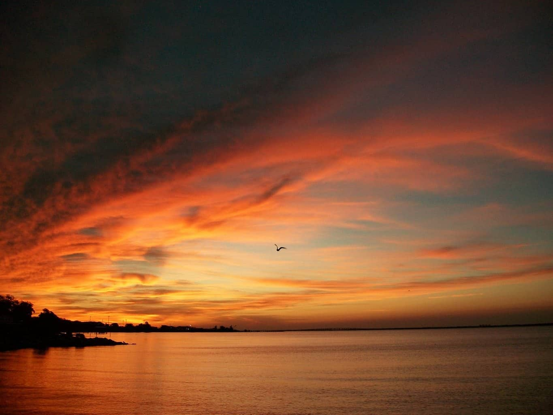 Pre sunrise over the bay.Pensacola Florida 8/26/2015