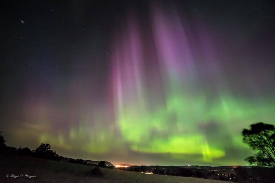 Auroras over Frankfort Michigan — in Frankfort, Michigan.