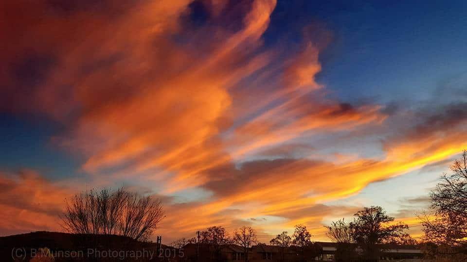 Amazing sunset over branson mo tonight