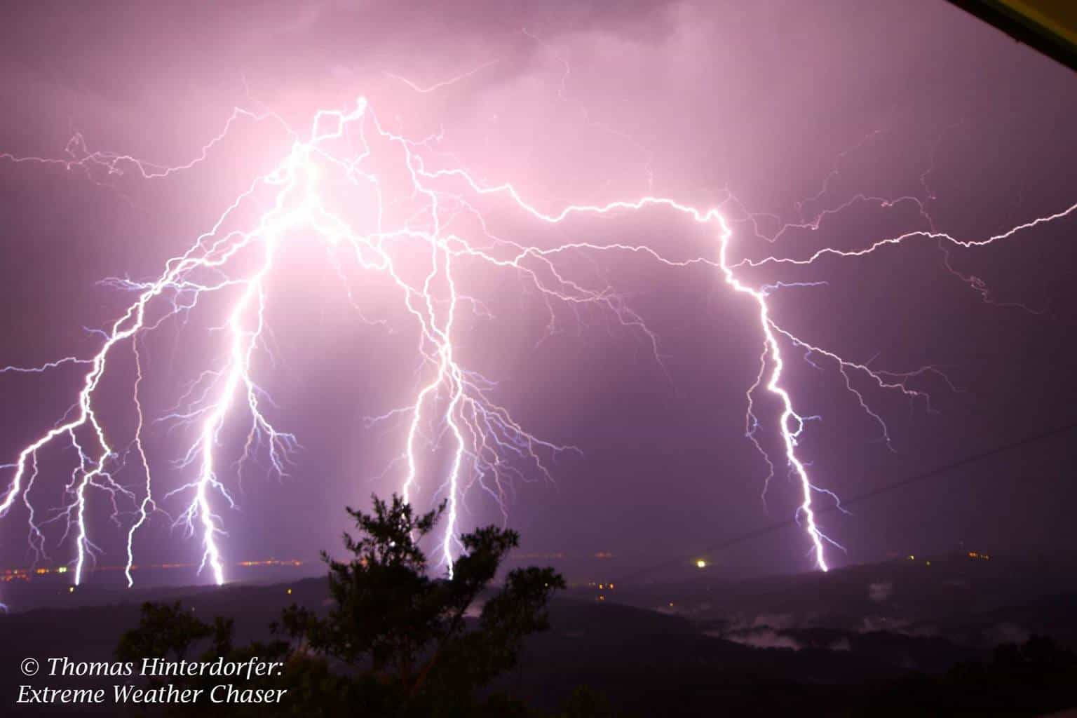 Bolt barrage! 2 x 30sec stack of a bolt barrage exploding over Maleny, Sunshine Coast, QLD back on November 6. Unreal to witness and even more surreal to capture.