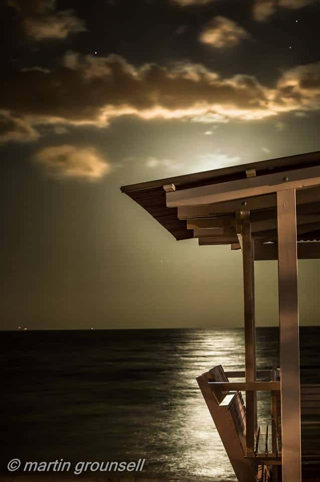 Full moon rising over Redcliffe, Qld, Australia