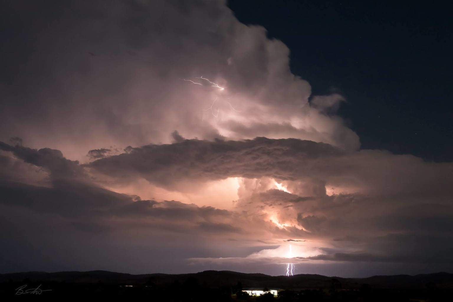The atomic bomb. 24/11/15. The magic of right decisions, 15 minutes of fury in front of you. Taken looking SW from Ban Ban Springs, Queensland, Australia.