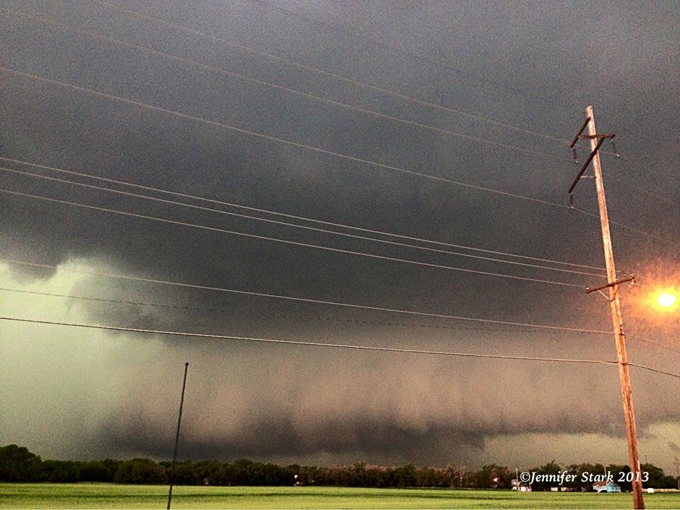 My first real chase that furthered my addiction. Massive wall cloud near Wichita may 19,2013