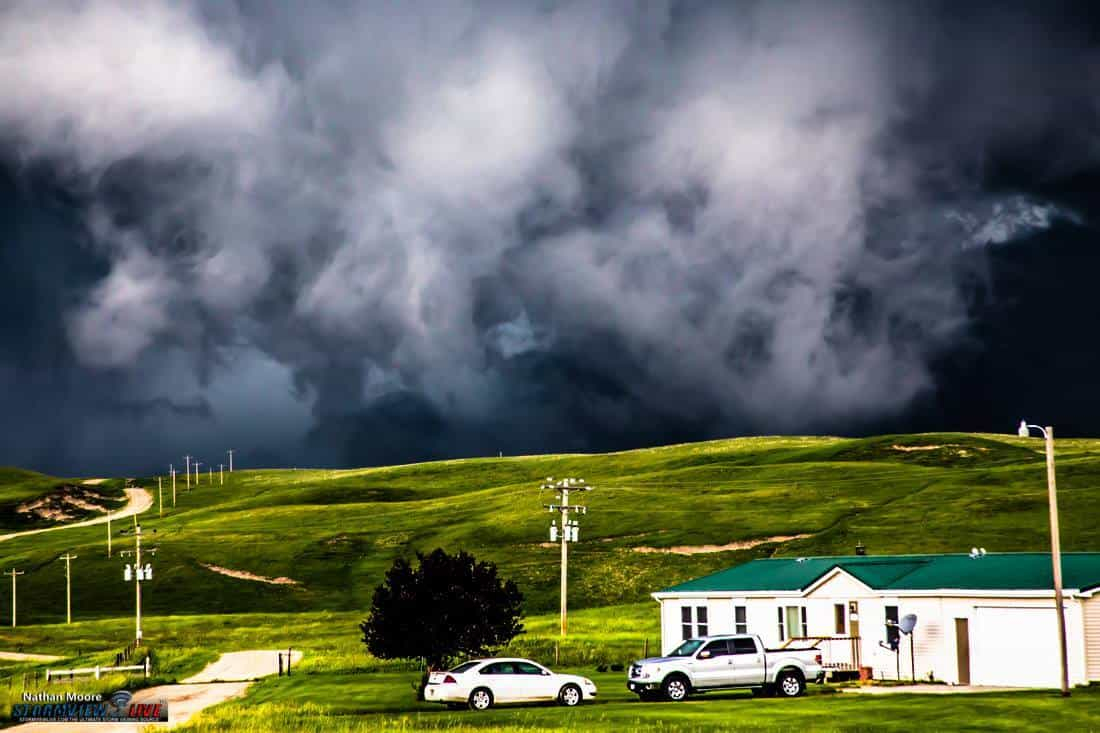 I love getting photos of houses that are in the path of these monster storms. Maybe thats a bad thing? I don't know, but it just adds to how massive some of these storms get. Near Brewster, NE. June 16th 2015