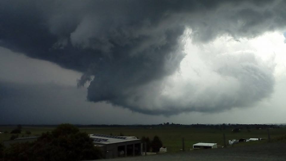 """Went on my first """"real"""" storm chase last Monday in Northern Rivers of NSW .... Wasn't the best chase for the others but I loved every minute ... I am hooked ... Who is taking me on my next one lol.... Pic taken on my cheap phone"""
