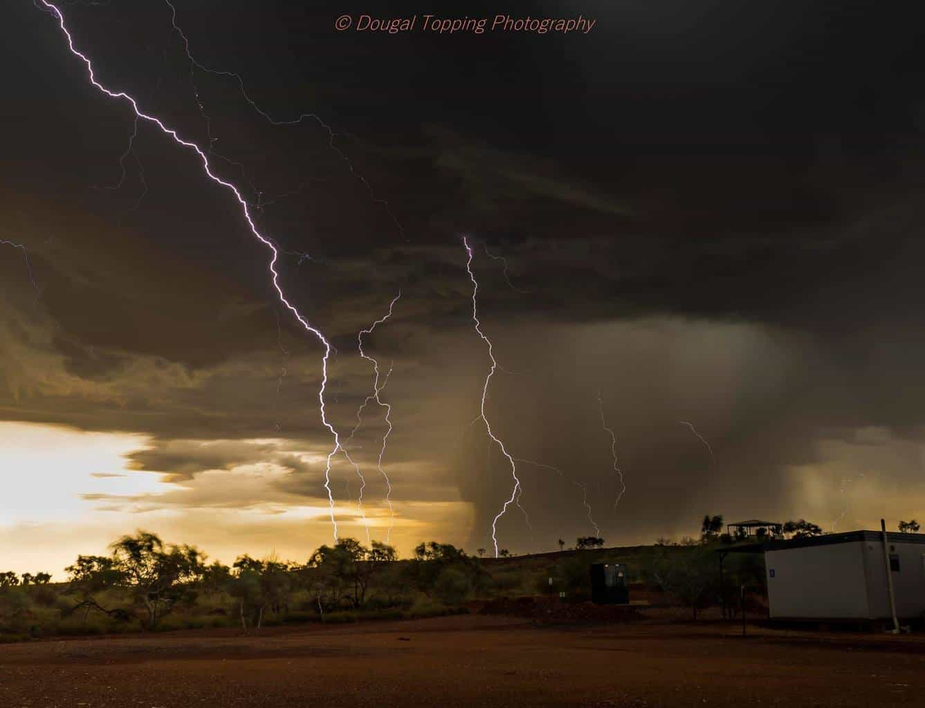 The wet season is on us in the Pilbarra in Western Australia  This was taken 28/10/15 one single image It got even closer and completely blew out on several shots.