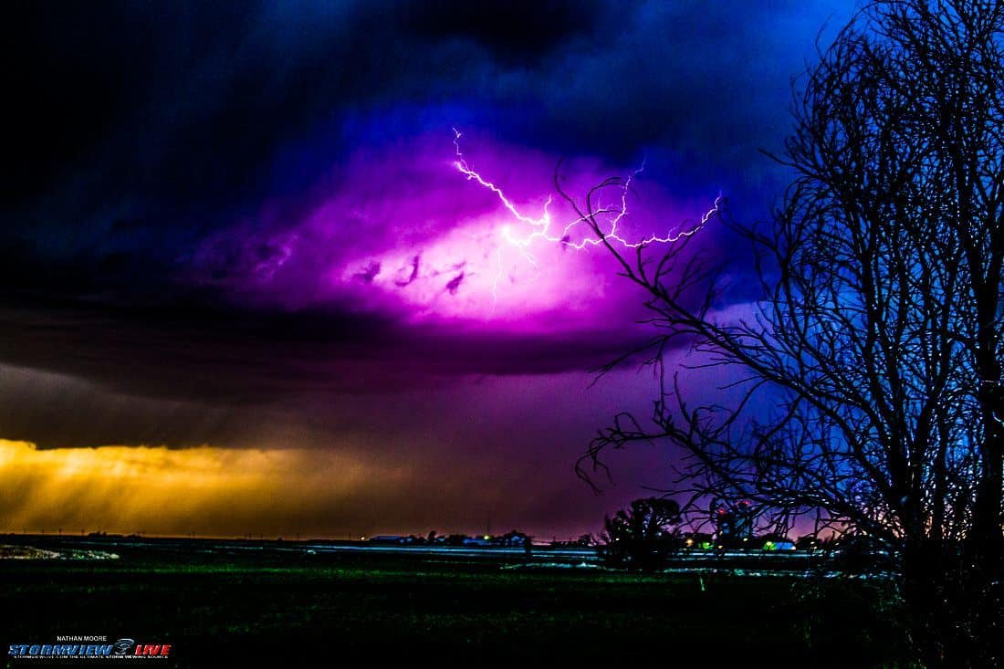 Well this is one of my favorite lightning pics from the year. This was back from April near Stockton, Kansas.. So much color in the one.