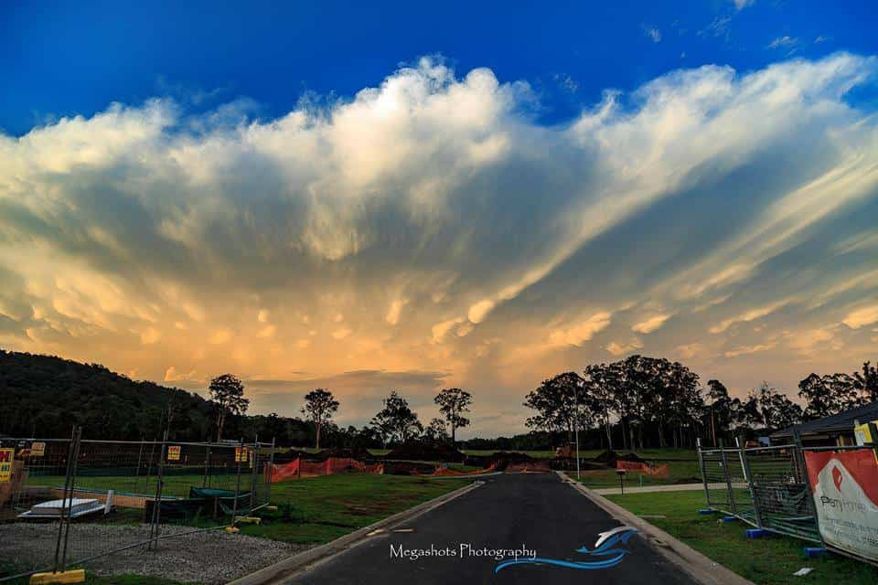 Excuse the construction work, but these clouds fascinated me the other day here in Maclean, NSW.