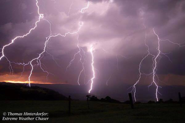 Near Maleny, QLD, Australia tonight. Seriously a shot of a lifetime!!!! Massive lightning barrage cascades over the Valley in front of me