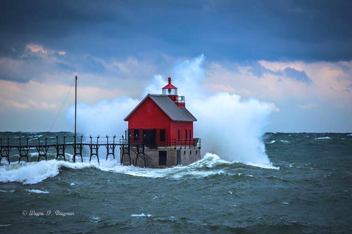 50 + mph Awesome to see. Grand Haven Mi. — withCarol Davis, Jeannette West and Mark Davis.