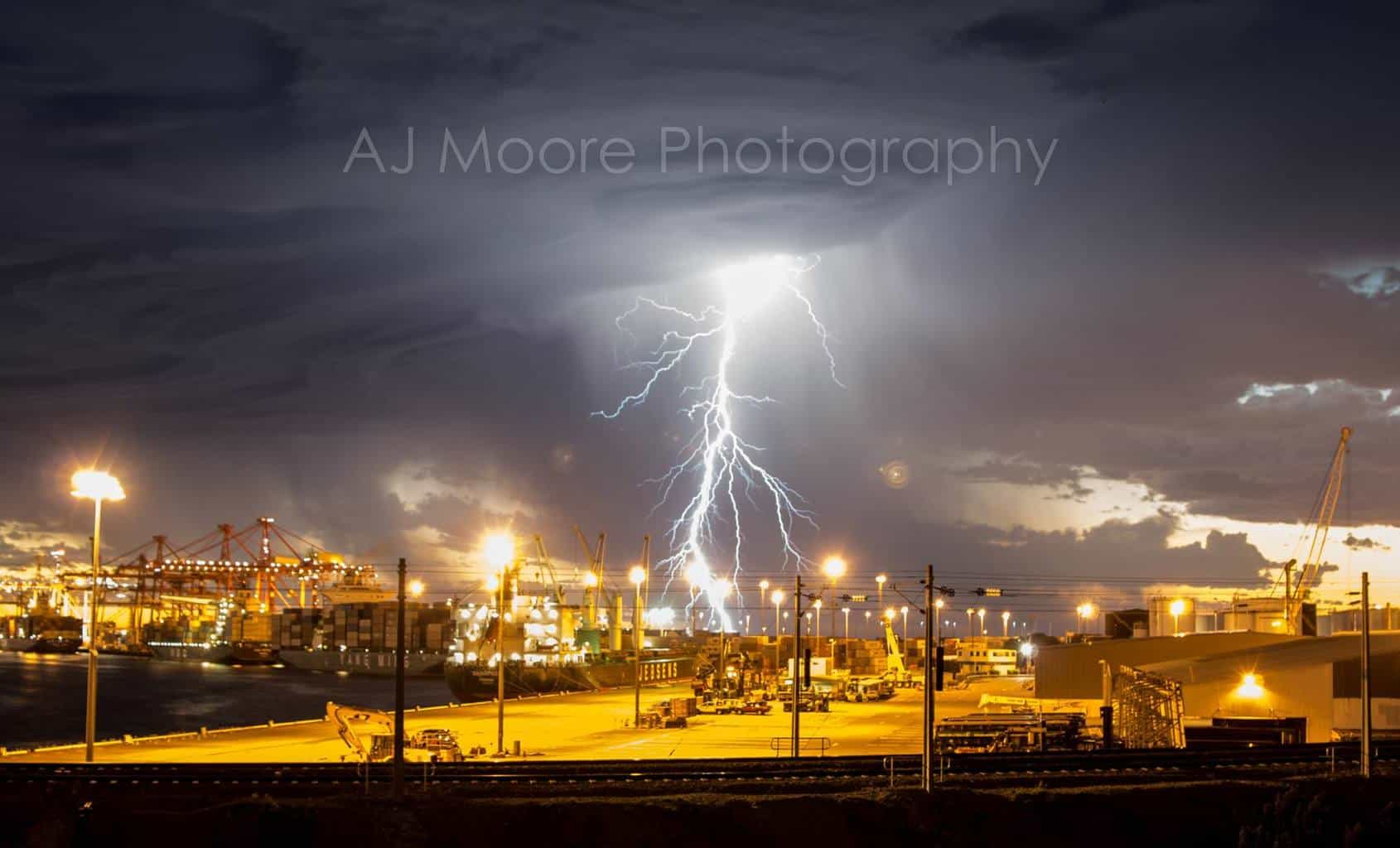 Storm passing over Fremantle port, Western Australia a few hours ago. Taken from our balcony. Broken my thunderstorm drought, finally!