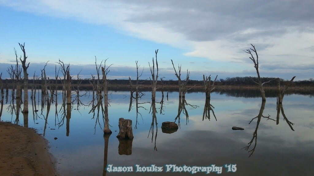 Longmier Lake, Seminole, Oklahoma. Earlier this year before the rain. Water was about 15ft low. Date:3-15-2015