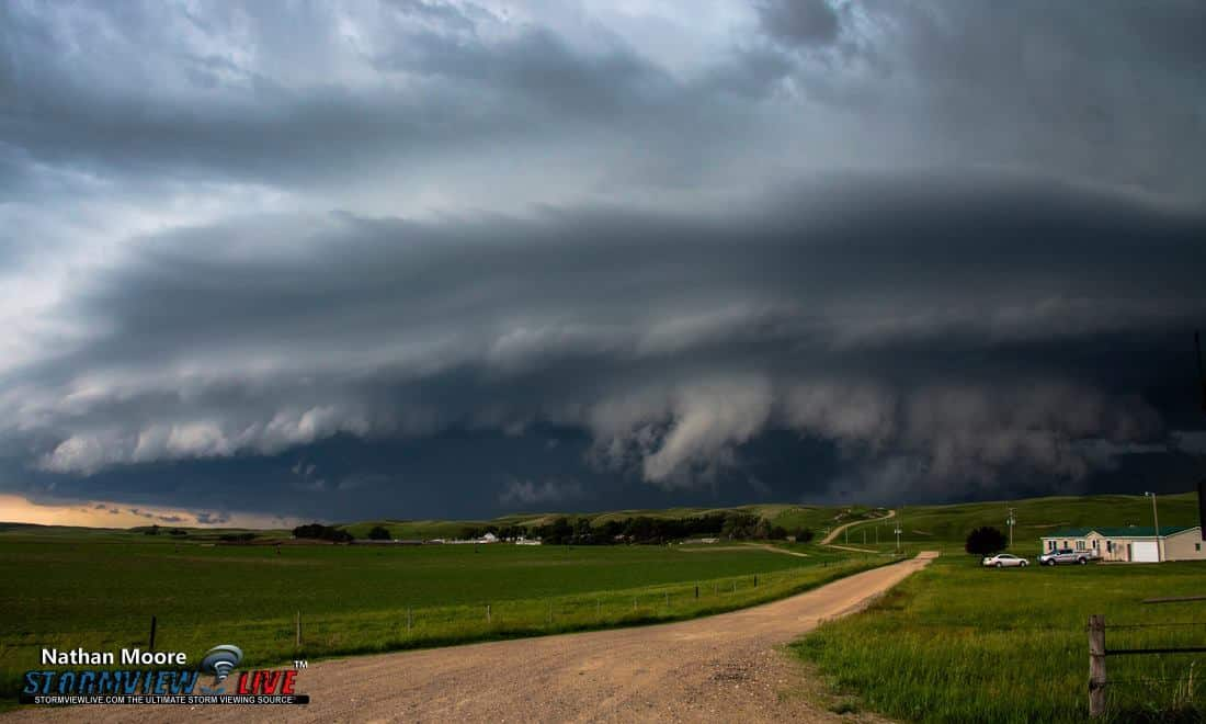 This awesome mothership was from June 16th 2015 near Brewster, Nebraska.. This storm was huge and ready to devour this poor house..