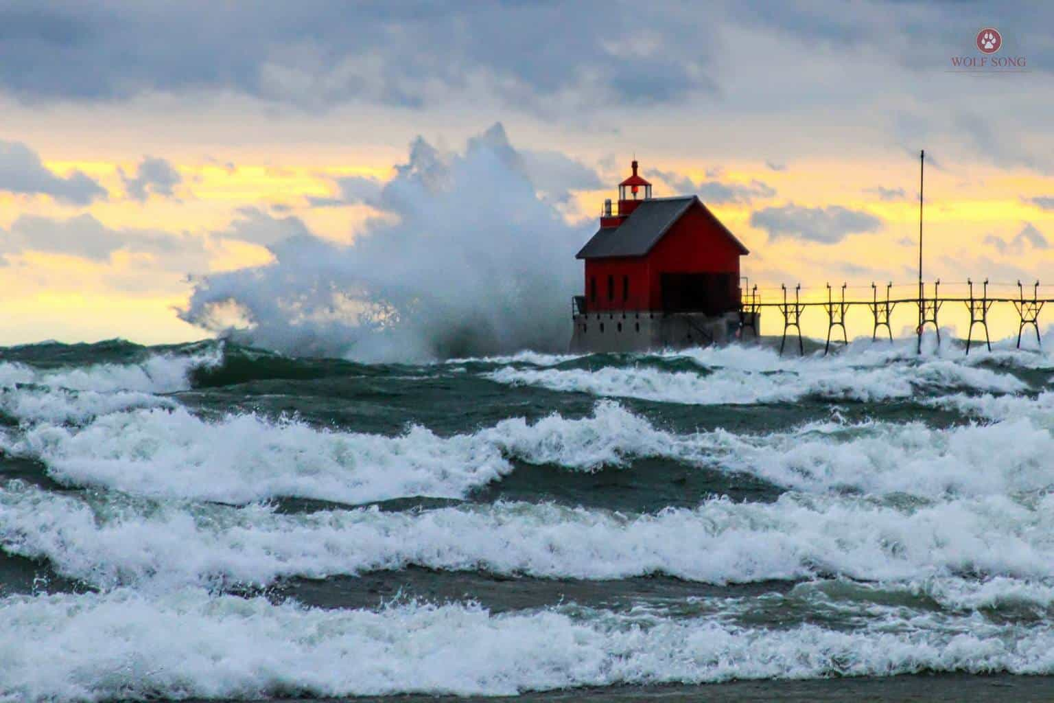 Here is a shot from the wind storm that hit the midwest last Thursday. This is in Grand Haven MI. I love opportunities to shoot weather related events!