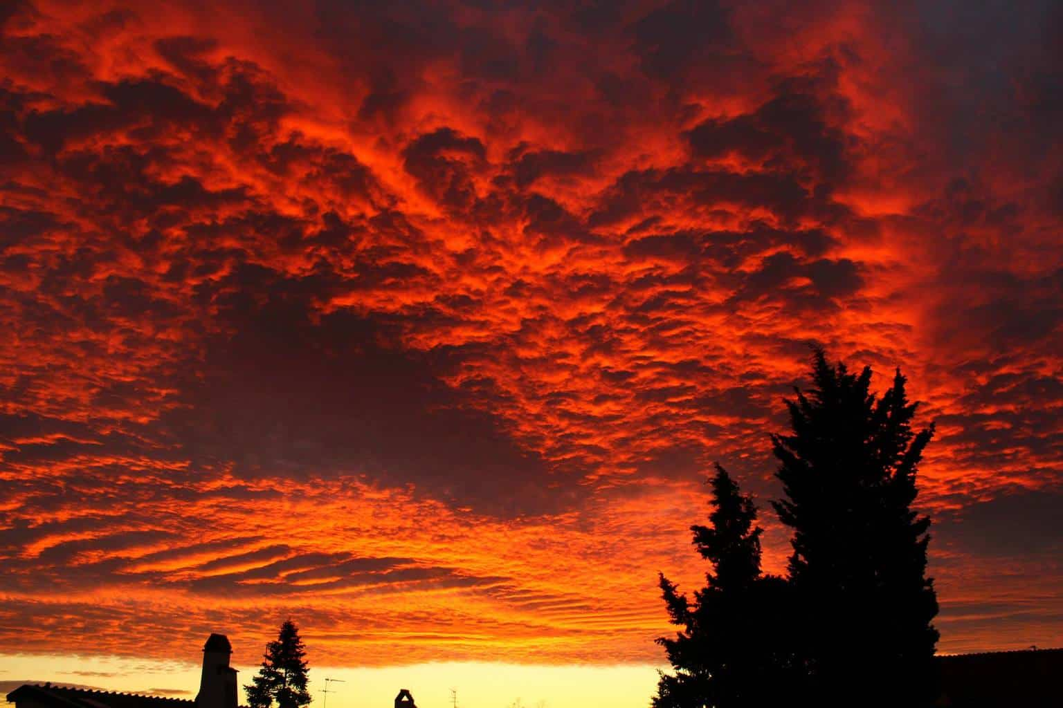 '' Best sunset ever '' My photo of an incredible sunset occurs in tuscany on december 2011.