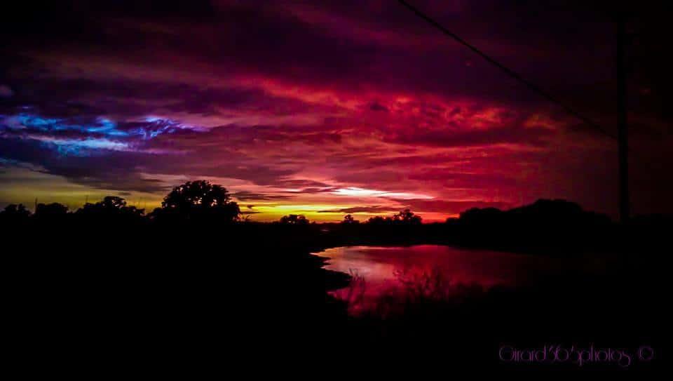 Sunset over Brooksville Florida