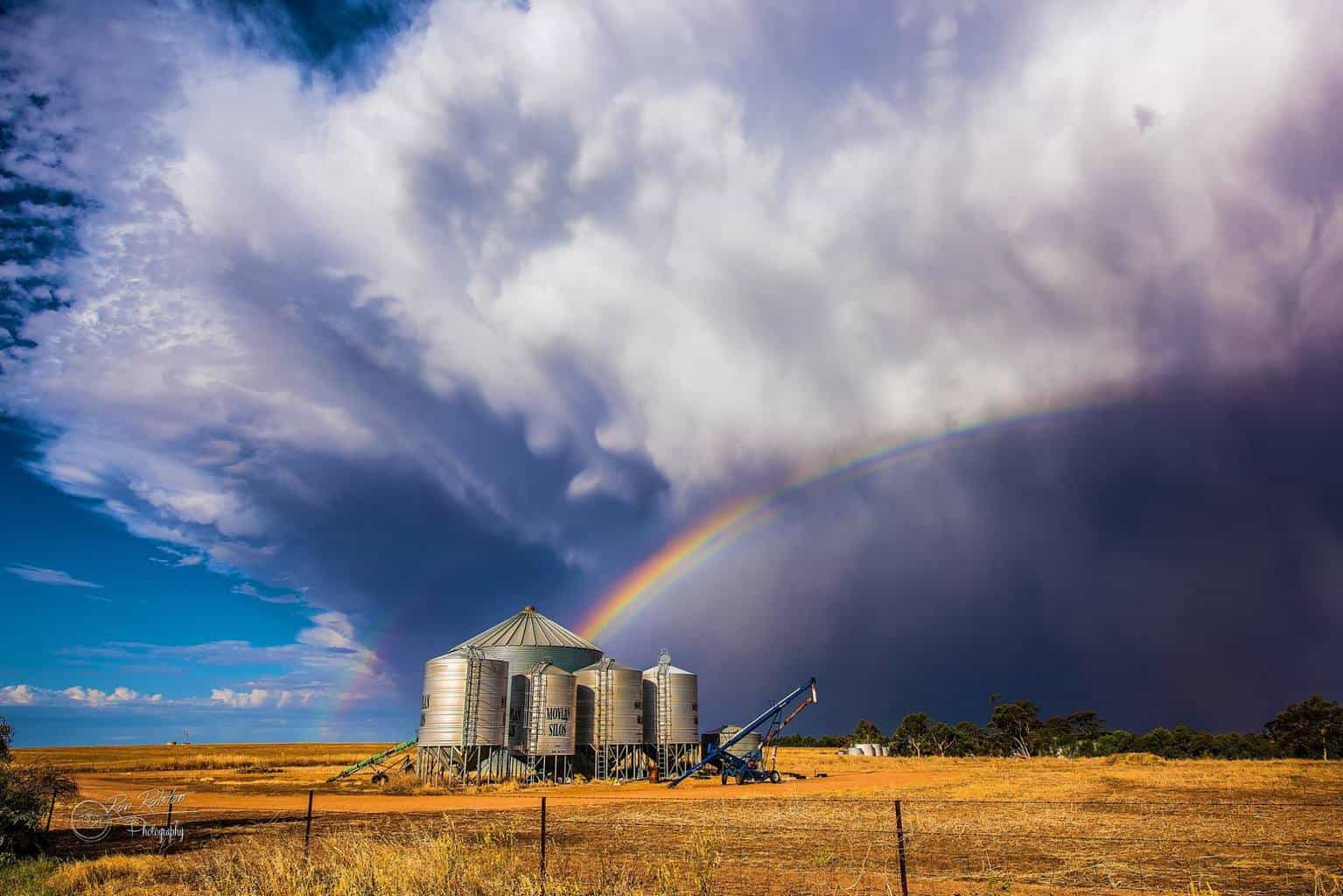 Storm cell  Wow what a beast this one was Near Calingiri Western Australia