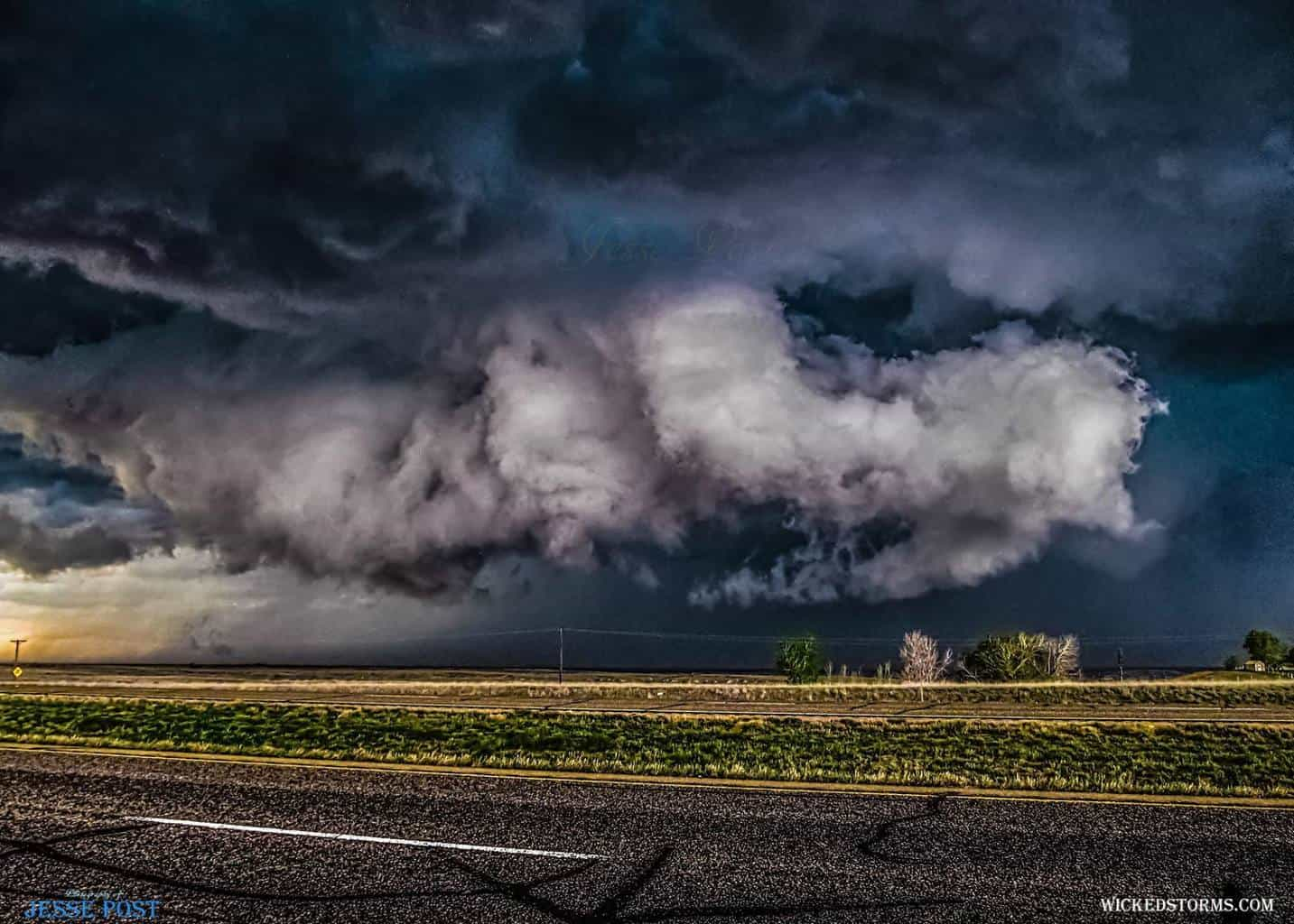 "I always called it ""the Corkscrew Supercell""...This Beast was a favorite among many chasers back in early May 2015 near Groom, TX, north of I-40. It went on producing amazing structures and numerous tornado-warned rain-wrapped events that evening...."