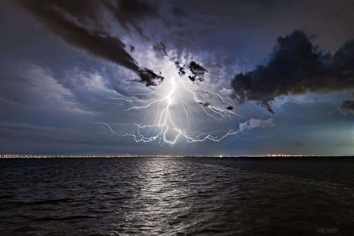 Snap, Crackle and Pop! As far as I can tell there was no ground strike for this lightning. Tampa, Fl