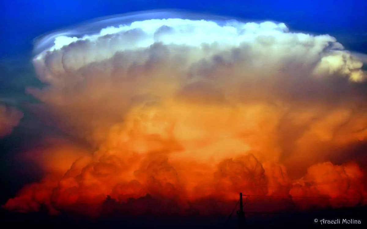 EXPLOSION.....a Florida Thunderstorm at Sunset. — in Bradenton, Florida.