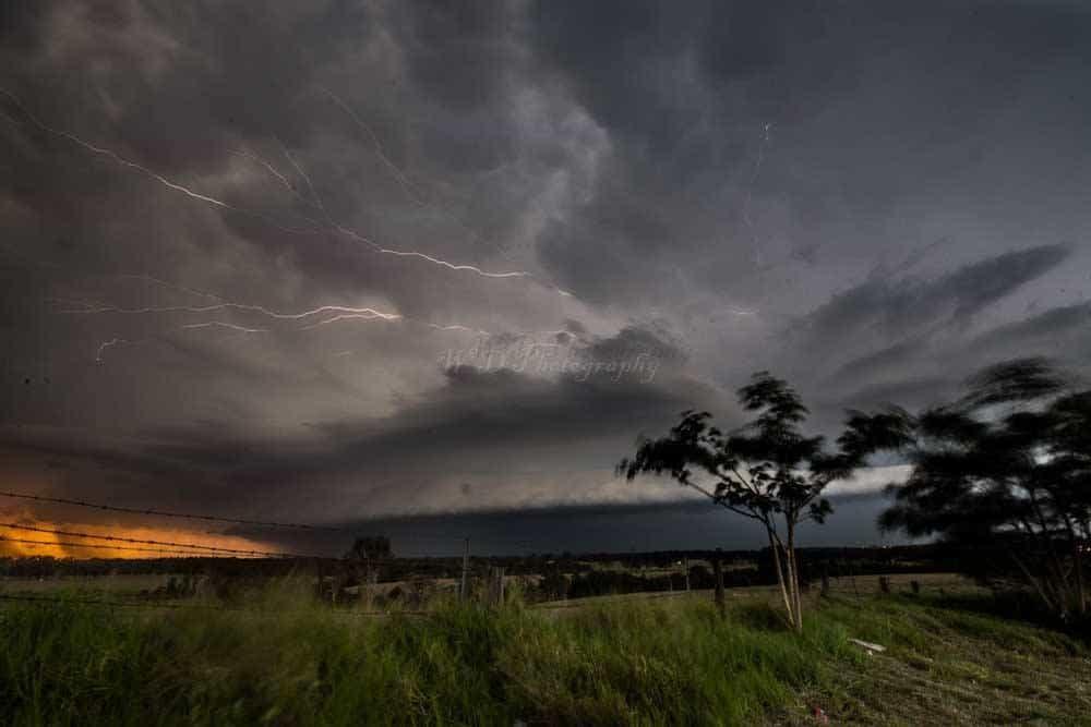 mondays storm in SE QLD